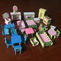 wholesale Mini Furniture Wooden Miniature 3d Model pig family kids Educational Toys Play House set Christmas gift for children