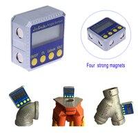 360 Degree Mini Digital Protractor Inclinometer Electronic Level Box Dual Magnetic Base Measuring Tools Electronic Angle
