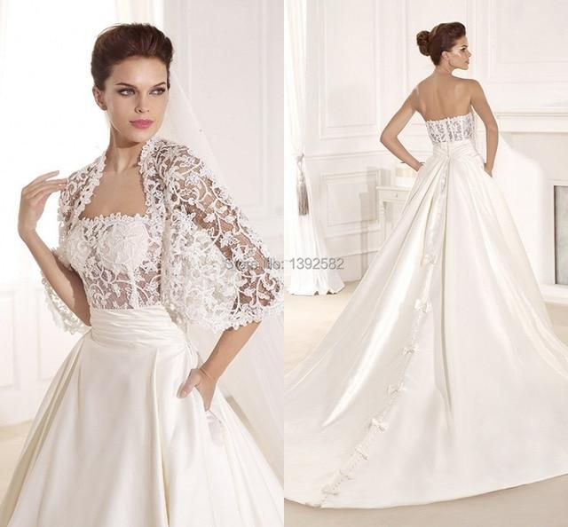 Church Wedding Gown with Pocket 2015 Chapel Train Tarik Ediz ...