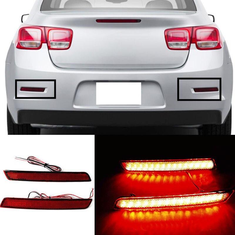 For Chevrolet Malibu 2013 2015 2PCS Rear Fog Lamp Double