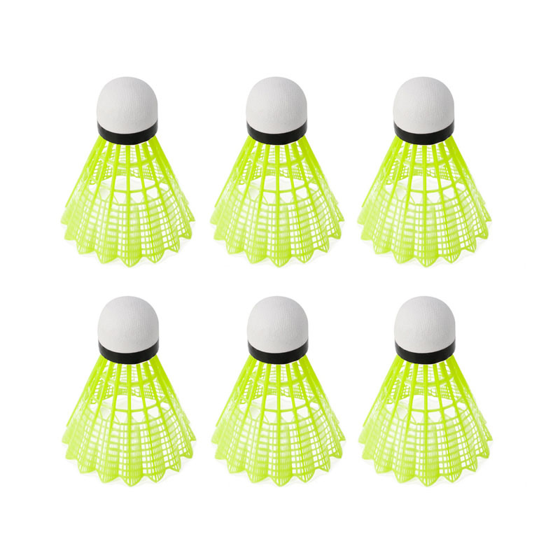 6 Pcs Durable Training Gym Fitness Sports Badminton Ball Nylon Shuttlecocks