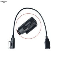 Car Styling Audio USB Adaptor Cable For Audi A4 A6 Q5 Q7 For Volkswagen AMI Connector