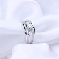 TransGems 0 8ct Carat Lab Grown Moissanite Diamond Solitaire Anniversary Engagement Rings Solid 18K White Gold