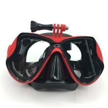 Маска для дайвинга для Gopro Водонепроницаемый аксессуары для подводной съемки Стекло маска для дайвинга для спортивной экшн-камеры Go Pro Hero 5/4/3 +/3/2/1/SJ4000/спортивной экшн-камеры Xiaomi yi