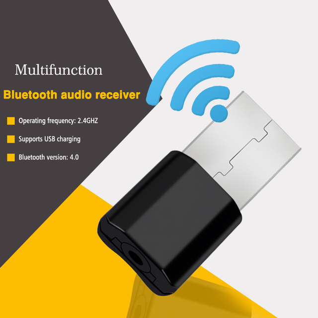 Wireless USB AUX Bluetooth Car Bluetooth  Mini Bluetooth Receiver Adapter Music Speakers Audio
