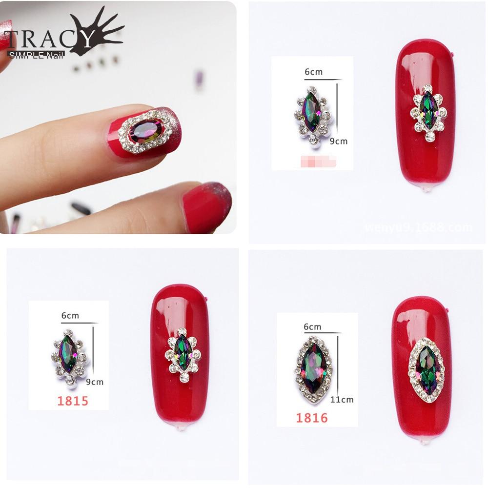 Tracy Simple Nail 1pcs 12designs Wheels Glitter Rainbow 3d Nail Art