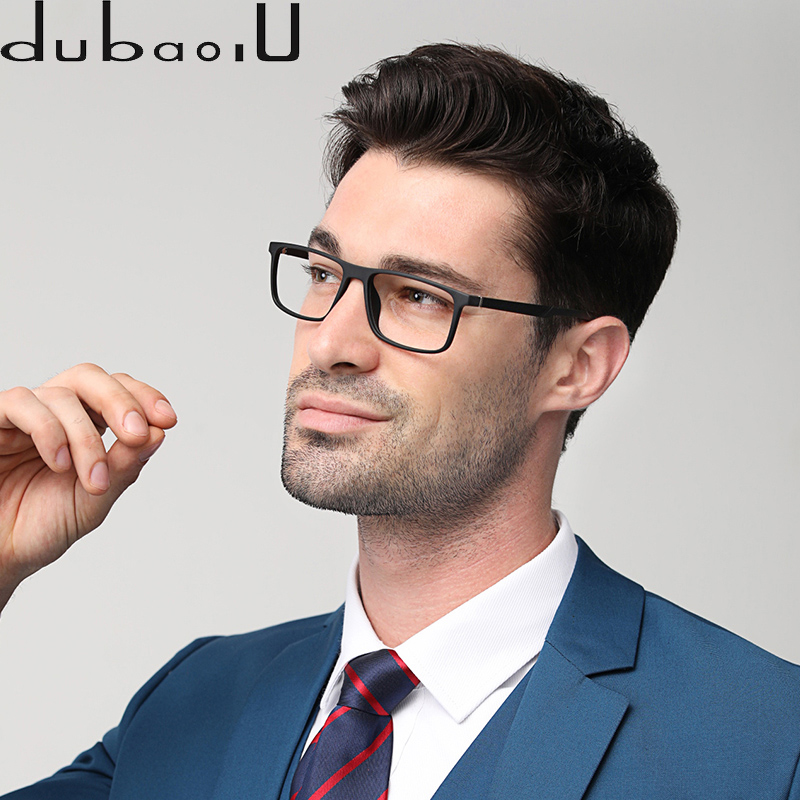 TR90 Prescription Eyeglasses Men Brand Designer Vintage Retro Myopia Optical Transparent Computer Prescription Glasses #MZ01-09