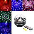 Голос Cotrol Свет Этапа MP3-ИК-ПУЛЬТ Дистанционного Цифровой RGB LED Кристалл Magic Ball Партия ДИ Дискотека Освещение Сцены Звук Активных luces discote