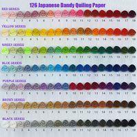 Бесплатная доставка (126 упаковок/партия) 1,5 & 3 & 5 мм длиной 390 мм 126 цветов высшего класса японской бумаги для квиллинга, бумага для рукоделия «
