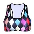 Women  Wire Free Bra Colorful Geomtric TopTanks Push Up Brassiere Women's Underwear Seamless  Wide Back Bra Undies
