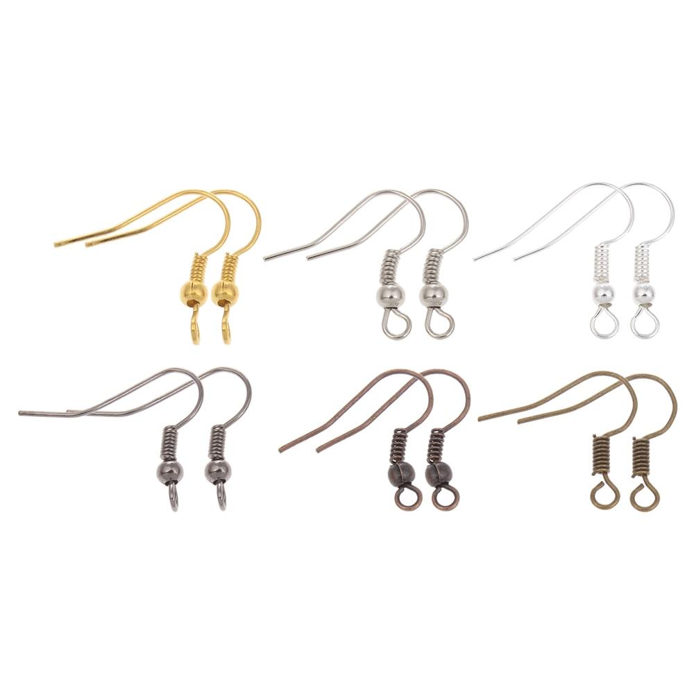 Loss promotion 100pcs/lot Earring Hooks Findings Earrings Clasps Hooks Fittings DIY Jewelry Making Accessories Hook Earwire