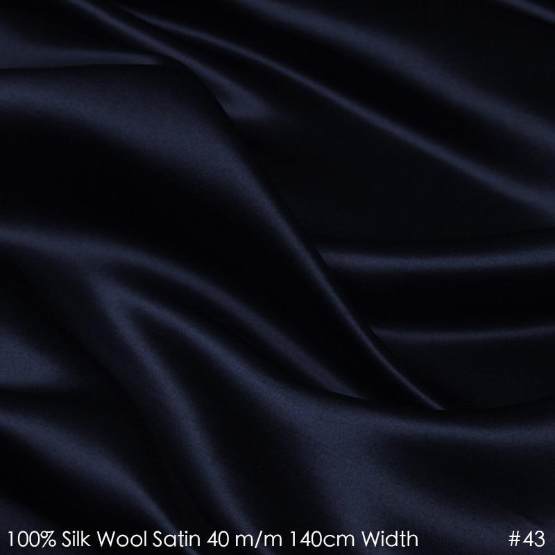 SATIN de laine de soie 140 cm largeur 40mm/28% soie + 72% laine Satin tissu pour couture costumes ensemble Sale-No.43 Direct usine bleu profondSATIN de laine de soie 140 cm largeur 40mm/28% soie + 72% laine Satin tissu pour couture costumes ensemble Sale-No.43 Direct usine bleu profond