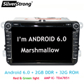 FreeShipping 2DIN Android 6.0 RAM 2 ГБ 32 ГБ ROM Автомобильный DVD Для VW PASSAT Volkswagen Golf MK6 Jetta GPS Navi B5 B6 B7 Android 6.0 801