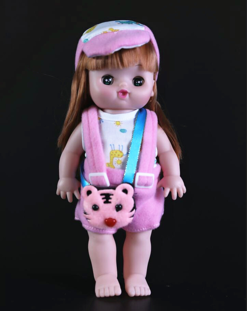[New]Very cute 28cm electronic music blink girl doll Sing song Reborn Baby Dolls newborn doll alive doll model Figures girl gift