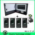 Biométrico de huellas digitales de huellas dactilares / tarjeta panel de control de acceso con caja de metal y fuente de alimentación + lector de huella digital + sensor de huellas digitales