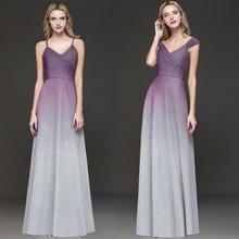 087219e267 2 Estilo vestidos largos de baile vestidos de fiesta largos elegantes de  gala púrpura gradiente gris