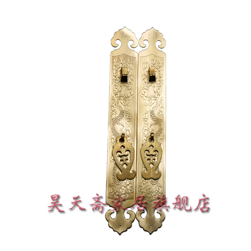 [Haotian vegetarian] antique copper straight Handle / Chinese decoration accessories / copper handicrafts HTC-138[Haotian vegetarian] antique copper straight Handle / Chinese decoration accessories / copper handicrafts HTC-138