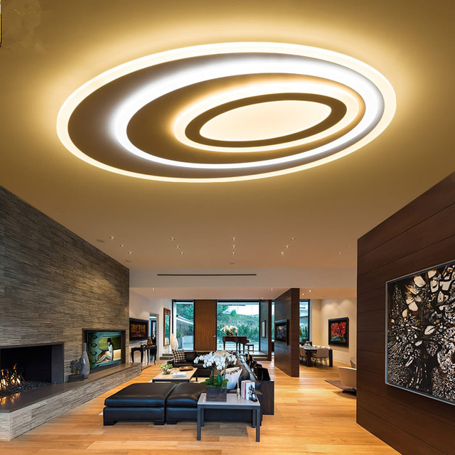 Dimming Remote Control Modern Led Ceiling Lights For Living Room Bedroom 3 Color Temperature New
