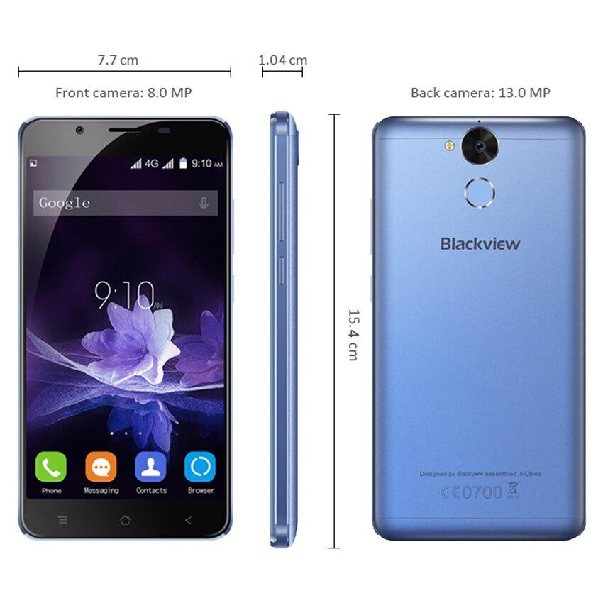 "Blackview P2 Smartphone 5.5"" FHD 6000mAh MTK6750T Octa Core 4G RAM 64G ROM Fingerprint ID 8MP+13MP Camera 4G LTE Mobile Phone"