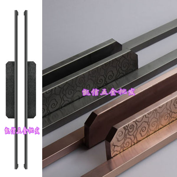 Modern Chinese antique carved glass door handle door handle handle European bronze wooden craft Club european modern bronze handle chinese antique doors handle circular glass door handle