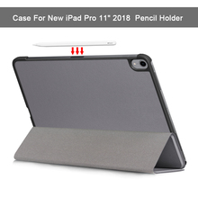 Smart Case For New iPad Pro 11 2018 Release Ultra Slim Shockproof PU Leather Trifold Stand Safe Full Body Cover Auto Wake/Sleep
