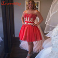 Red Homecoming Dresses Off the Shoulder Tulle with Applique A-line 2016 Graduation Gowns Custom Made Formal Prom Dresses