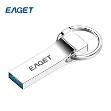 Eaget usb флеш-накопитель 32 ГБ 16 ГБ 64 ГБ USB 3.0 Pen Drive Творческий Высокое Скорость флешки металла кольцо для ключей U disk storage memory stick