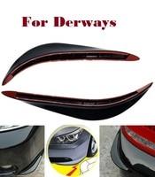 2PCS Car Bumper Crash Bar Strips Exterior Scratches Cover For Derways Aurora Cowboy Land Crown Saladin