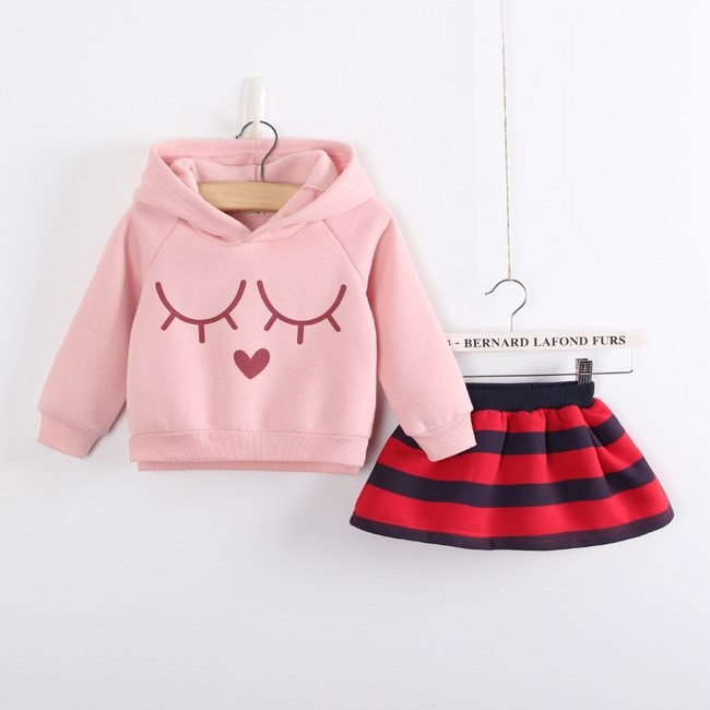Free shipping children clothing spring/autumn girl  rabbit pattern sports suit girl plus velvet sweatshirt+skit girl suit free shipping children s clothing spring autumn girl leisure flower pattern girl suit long sleeve sweatshirt pants set