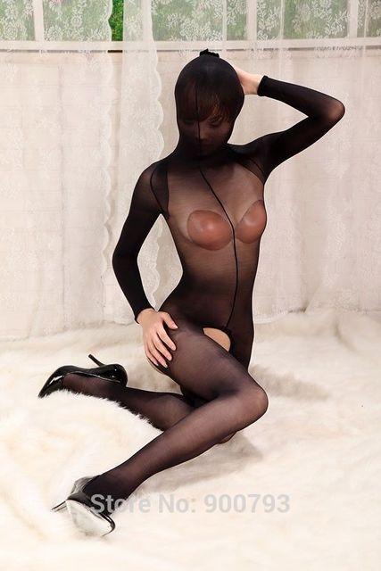 Womens Mens Sexy Sheer Open Crotch Bodystocking Full Body Wrap Bodyhose Pantyhose Sex Bondage Adult Game Bodysuit