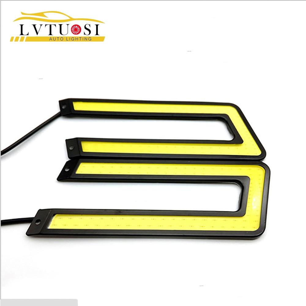LVTUSI COB U formas DRL LED dienas gaitas gaismas LED automašīnu - Auto lukturi - Foto 1