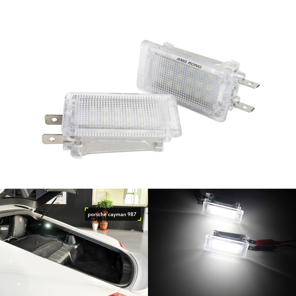 US $11 6 10% OFF ANGRONG 2x For Porsche 911 Carrera 996 997 964 GT3 LED  Luggage Boot Compartment Light For Porsche Boxster (986) 97 04 (CA203)-in
