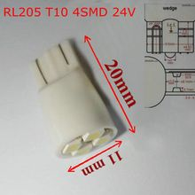 Free shipping 24V T10 4SMD  1210 (100pcs/lot) 168  w5w auto working 24v bulbs Light  cheap price led side mark lights RL205