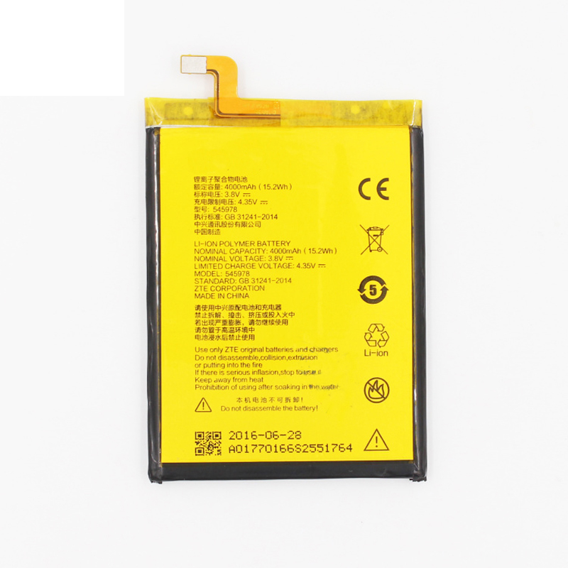 Original 545978 phone <font><b>battery</b></font> For <font><b>ZTE</b></font> <font><b>Blade</b></font> BA601 <font><b>A601</b></font> 4000mAh image