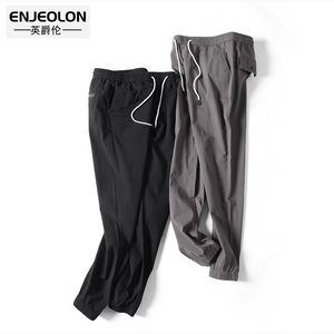 Image 3 - Enjeolon Brand Spring Long Straight Trousers Sweatpants Men Solid Casual Pants 3XL Men Quality Thin Casual Pants Males K6252