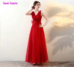 Сексуальное Красное Тюлевое платье для выпускного вечера с длинным рукавом, новинка 2018 года, платье для выпускного вечера большого