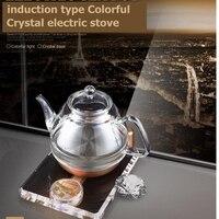 Darmowa wysyłka KAMJOVE pogrubienie szkła czajnik elektryczny gotować herbata zdrowia Inteligencja Kolorowe kryształ herbaty kuchenka elektryczna