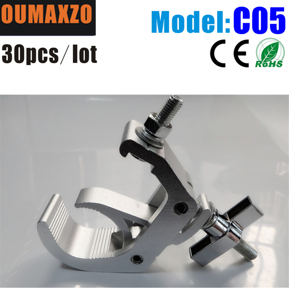 30pcs/lot C Clamp Hook Bracket Truss Security Kit for DJ Disco Party Stage Lights Aluminum O Clamp for Stage Light Lighting