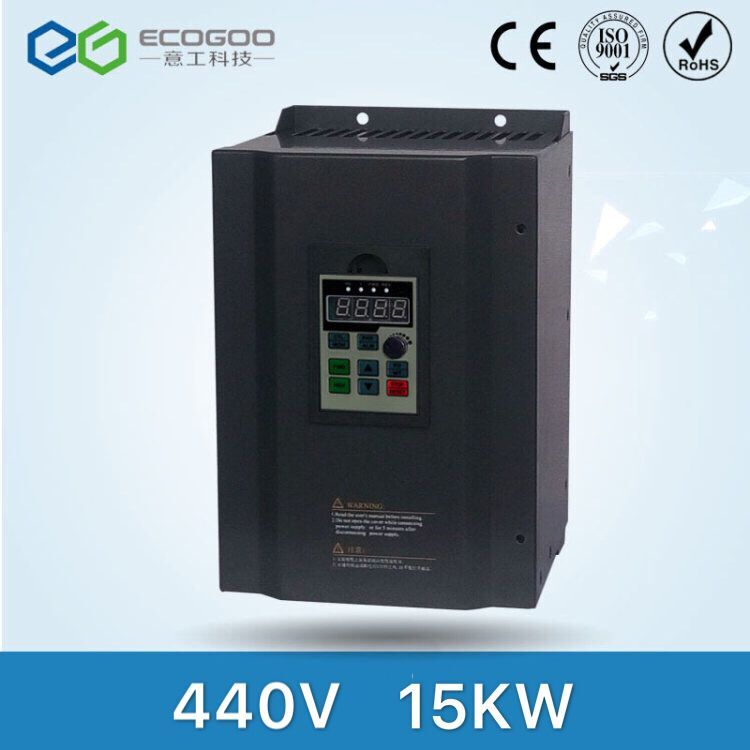 440v 15kw VFD Variable Frequency Driver VFD Inverter 3HP Input 3HP Output CNC spindle motor Driver spindle motor speed control