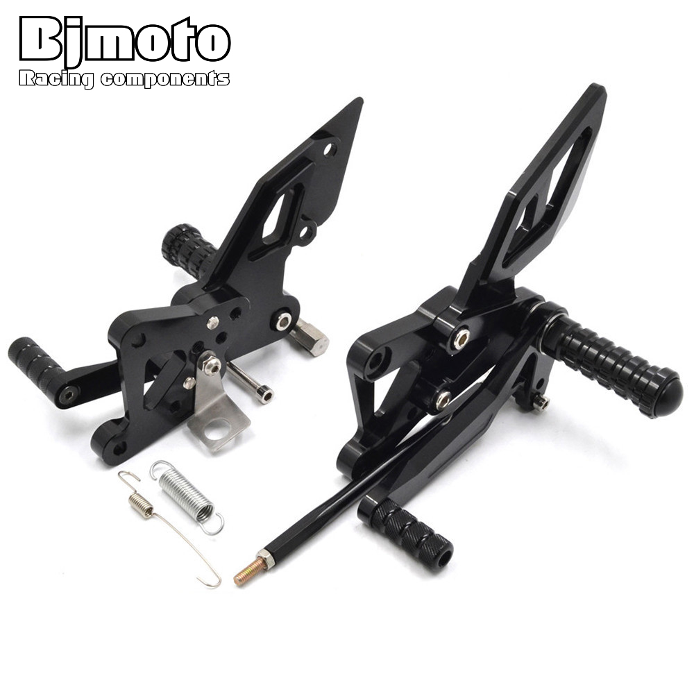 BJMOTO Motorcycle CNC Foot pegs Adjustable Rearset Rear Sets For Yamaha YZF R3 2015-2018 R3 ABS 2017-2018 YZF R25 2013-2018 for yamaha yzf r3 r25 mt 03 2014 2015 2016 motorcycle rearset rear set replacement base mounting bracket plate cnc machined