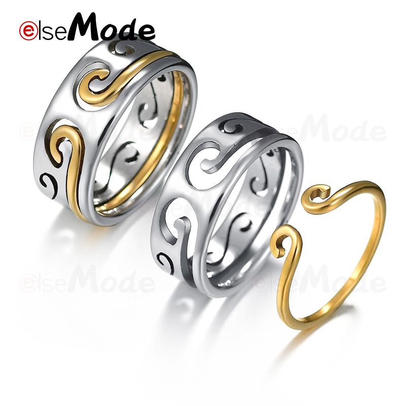 Engagement Rings Flyleaf Monkey King Magic Spell Combo Open Rings For Women Men 2018 New Trend 925 Sterling Silver Lovers Fashion Jewelry Wedding & Engagement Jewelry