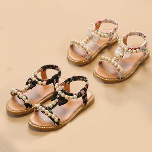 9e4f89a7c8150f Kids Girls Summer Holiday Cute Fashion Floral Sandals Infant Princess Slip  Soft Anti-Slip Open-toed Strap Shoes