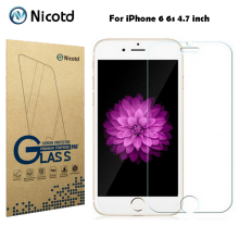 Nicotd 9H 0.3mm 2.5D Arc Scratch-resistant Tempered Glass for iPhone 6 6s 4.7″ Explosion Proof Toughened Screen Protector Film