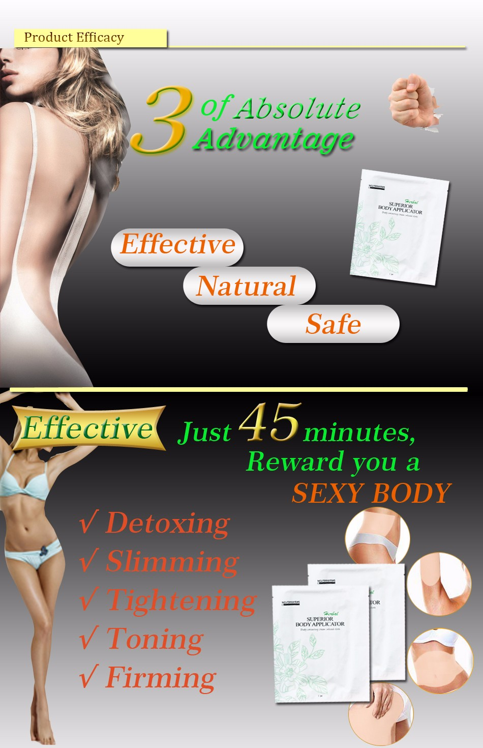 5 pcs Neutriherbs Body Applicator Skin Tightening, Firming Cream It Works to Stretch Marks Removal Weight Loss 6