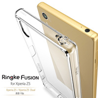 Ringke Fusion Mobile Phone Case For Xperia Z5 With Crystal Hard PC Back Cover And Flexible