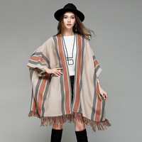 2018 Women Sweater Cloak Batwing Colthing Knitted Sweater Cardigans Sexy Autumn Female