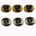 O envio gratuito de Ferramentas de Jóias Desmontado Mini escova de aço Escova de fio de Bronze escova de polimento roda para Dremel Acessórios Dremel 22mm de Diâmetro