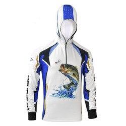 Ultra-leve respirável ao ar livre pesca hoodies roupas mangas compridas secagem rápida uv proteção camisa anti-uv pesca roupas
