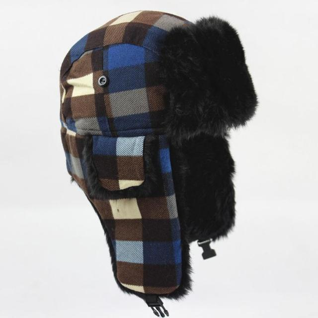 97b4bdc1 mens winter hats ear flaps winter hat for women gorro ruso aviator Russian  hat with ear flaps cap bomber Hat Chapeu de inverno