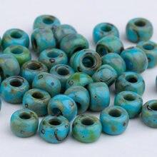 Taidian, revêtement Picasso, Miyuki, perles rondes pour bijoux Bohostyle, 4MM 6/0 5 grammes/lot, environ 60 pièces